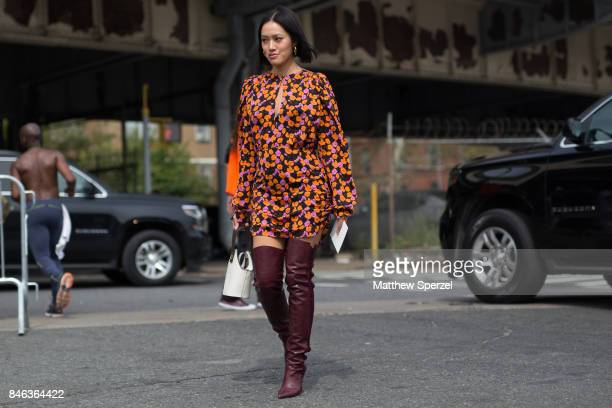 Tiffany Hsu is seen attending Coach during New York Fashion Week wearing Coach on September 12 2017 in New York City