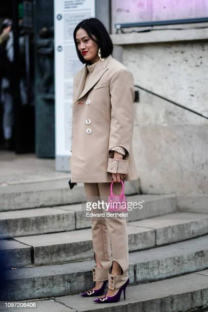 Tiffany Hsu is seen outside Acne during Paris Fashion Week Menswear F/W 20192020 on January 20 2019 in Paris France