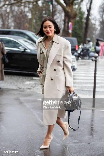 Tiffany Hsu is seen outside Chloe during Paris Fashion Week - Womenswear Fall/Winter 2020/2021 : Day Four on February 27, 2020 in Paris, France.