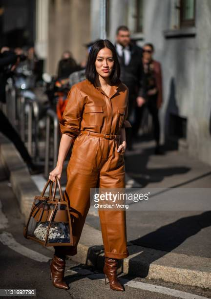 Tiffany Hsu is seen outside Etro on Day 3 Milan Fashion Week Autumn/Winter 2019/20 on February 22 2019 in Milan Italy