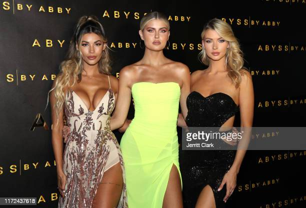 Tiffany Keller Kellie Stewart and Erin Michelle attend Abyss By Abby Launch at Beauty Essex on September 04 2019 in Los Angeles California