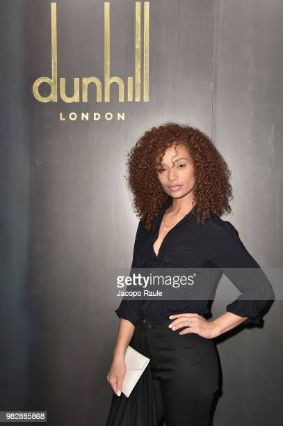 Tiffany Luce attends the Dunhill London Menswear Spring/Summer 2019 show as part of Paris Fashion Week on June 24 2018 in Paris France