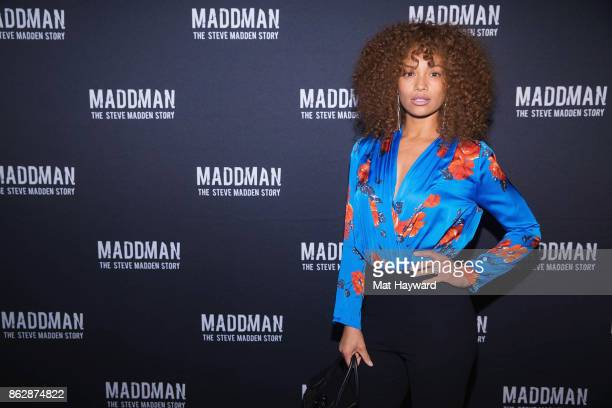 Tiffany Luce Chancellor arrives at the Seattle premiere of the documentary MADDMAN The Steve Madden Story at iPic Theatre on October 17 2017 in...