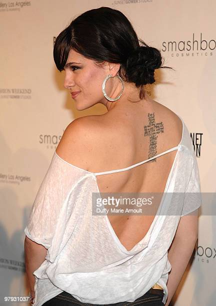 Tiffany Michelle attends Brand Equity Showroom's Fall 2010 Runway Show on March 21 2010 in Los Angeles California