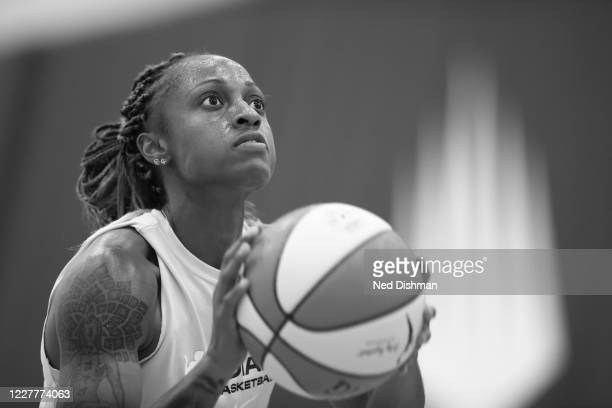 Tiffany Mitchell of the Indiana Fever shoots the ball during practice on July 23, 2020 at IMG Academy in Bradenton, Florida. NOTE TO USER: User...