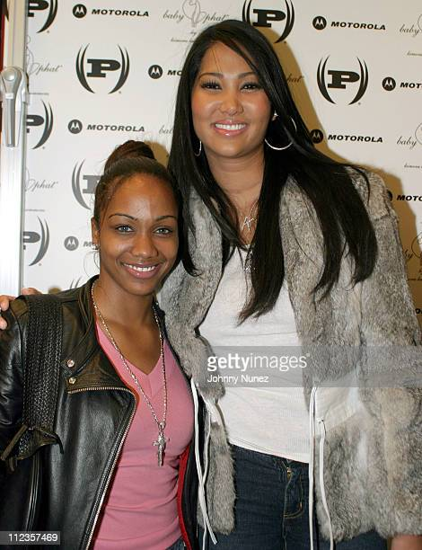Tiffany of BET and Kimora Lee Simmons during Phat Farm Store Grand ReOpening at Phat Farm Store in New York City New York United States