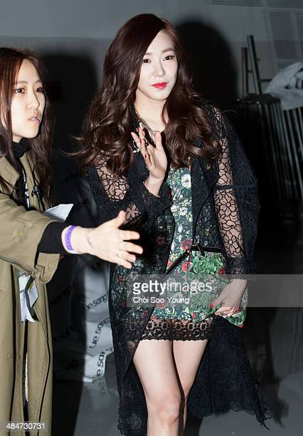Tiffany of Girls' Generation attends the 2014 F/W Seoul Fashion Week 'Steve JYoni P Fashion Show' at DDP on March 24 2014 in Seoul South Korea