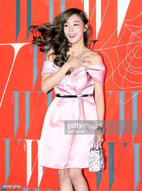 Tiffany of Girls' Generation poses for photographs during the W Korea campaign Love Your W party at Fradia on October 23 2014 in Seoul South Korea