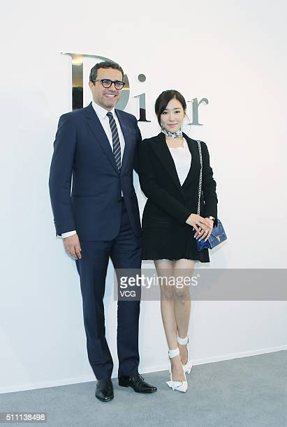 Tiffany of South Korean girl group Girls' Generation attends the Dior store opening ceremony on February 18 2016 in Bangkok Thailand