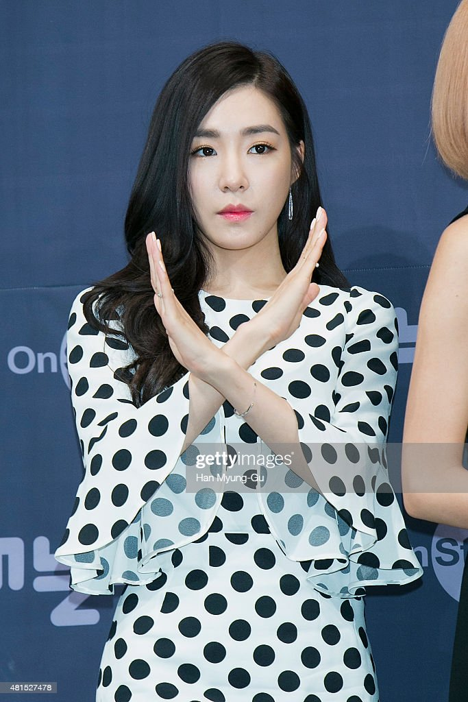 Tiffany of South Korean girl group Girls' Generation attends the OnStyle 'Channel SNSD' Press Conference at Imperial Palace Hotel on July 21, 2015 in Seoul, South Korea. The program will open on July 21, in South Korea.