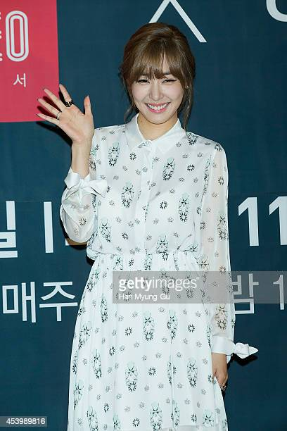 Tiffany of South Korean girl group Girls' Generation attends the press conference for OnStyle 'The TaeTiSeo' at CJ EM Center on August 22 2014 in...