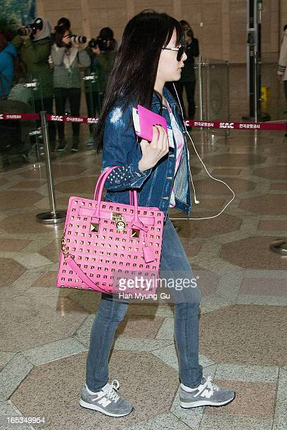 a08385261 Tiffany of South Korean girl group Girls' Generation is seen on departure  to Japan at