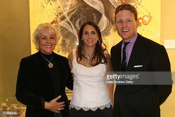Tiffany Ortiz wife of Boston Red Sox ball player David Oriz with guests at an evening at David Yurman in conjunction with Boston Magazine to benefit...