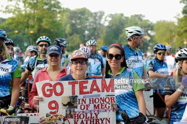 Tiffany Ortiz wife of Red Sox David Ortiz attends the official Wellesley start for the 33rd annual PanMassachusetts Challenge at Babson College on...