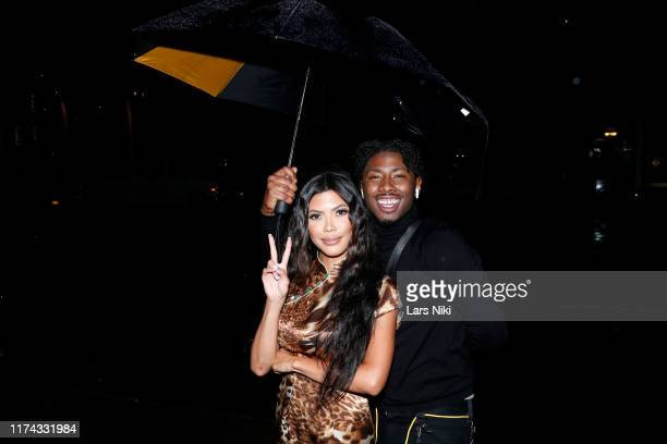 Tiffany Panhilason and TJ Atoms attend Tiffany Panhilason's NYFW Fundraising Event For Mentari on September 12 2019 in New York City