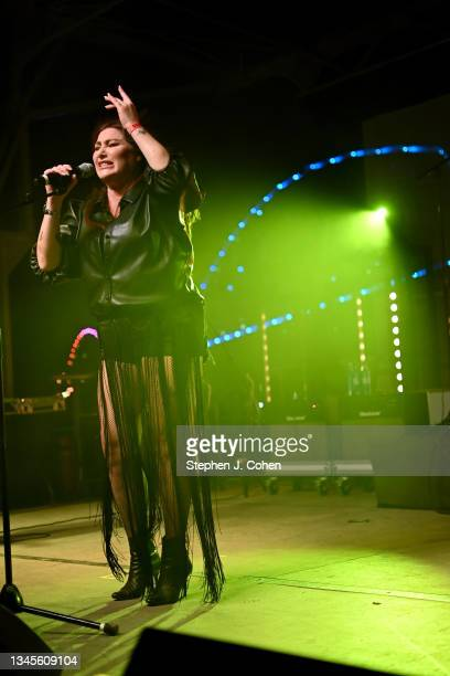 Tiffany performs during the 2021 Kentuckiana Pride Festival at Big Four Lawn at Louisville Waterfront Park on October 08, 2021 in Louisville,...