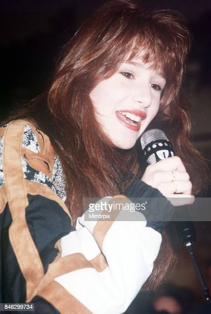 Tiffany pop singer at the Trocadero in London 21st January 1988