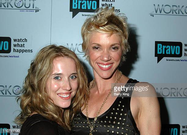 Tiffany Ragain and Jackie Warner during Bravo's Workout Series Season 2 Premiere Party Inside at HERE Bar Lounge in West Hollywood CA United States