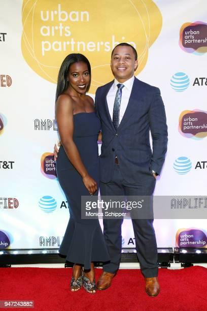 Tiffany Reid and Clifton McKnightÊattend the Urban Arts Partnership's AmplifiED Gala at The Ziegfeld Ballroom on April 16 2018 in New York City
