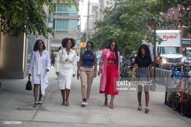 Tiffany Reid Nicole Martine Chapoteau Nikki Ogunnaike Shiona Turini Gabby Prescod at the Monse show during New York Fashion Week Spring/Summer 2019...