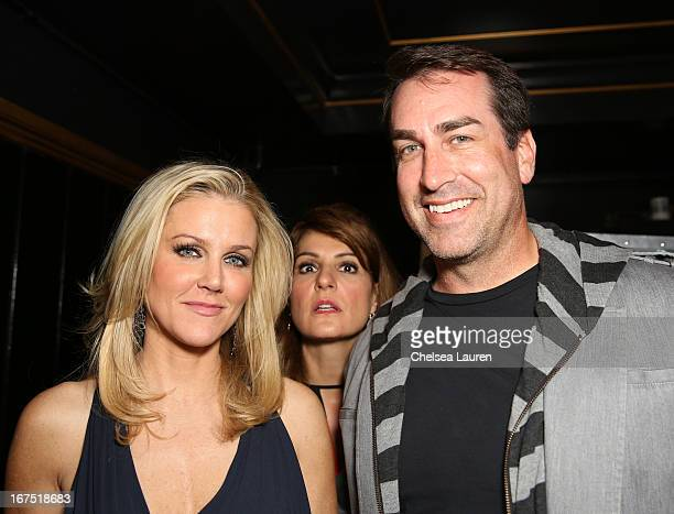 Tiffany Riggle Nia Vardalos and Rob Riggle attend the Second Annual Hilarity For Charity benefiting The Alzheimer's Association at the Avalon on...