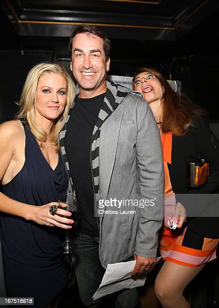 Tiffany Riggle Rob Riggle and Nia Vardalos attend the Second Annual Hilarity For Charity benefiting The Alzheimer's Association at the Avalon on...