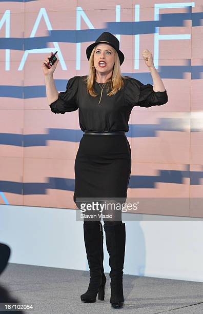 Tiffany Shlain filmaker and founder of the Webby Awards speaks at the TFI Interactive Day during the 2013 Tribeca Film Festival on April 20 2013 in...