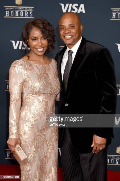 Tiffany Smith and general manager of Houston Texans of the National Football League Rick Smith attend 6th Annual NFL Honors at Wortham Theater Center...