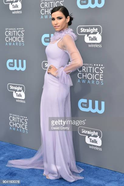 Tiffany Smith attends The 23rd Annual Critics' Choice Awards Arrivals at The Barker Hanger on January 11 2018 in Santa Monica California