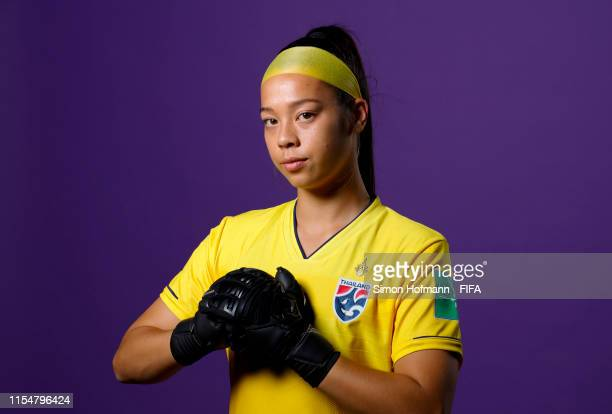 Tiffany Sornpao of Thailand poses for a portrait during the official FIFA Women's World Cup 2019 portrait session at Grand Hotel Continental on June...