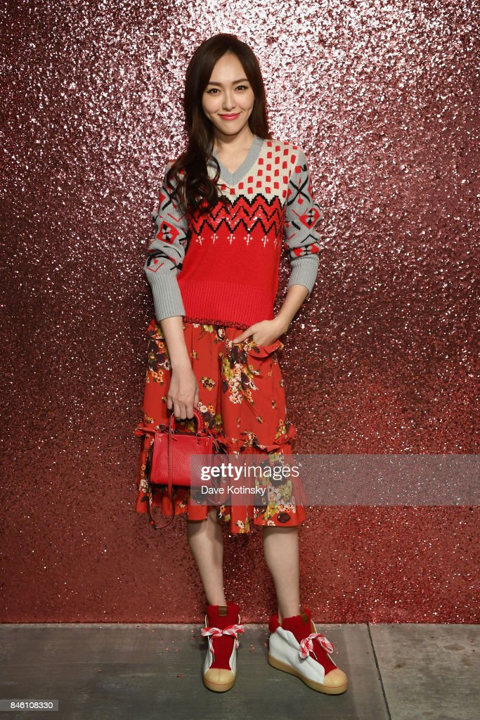 Tiffany Tang poses for a portrait during Coach Spring 2018 Fashion Show during New York Fashion Week at Basketball City - Pier 36 - South Street on September 12, 2017 in New York City.