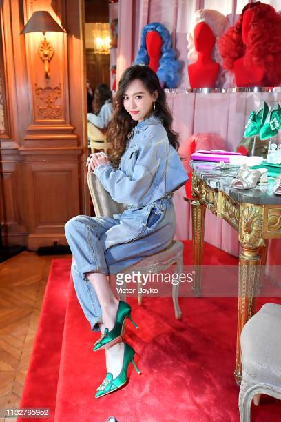 Tiffany Tang Yan attends the Day Dream Vivier Press Day during Paris Fashion Week Womenswear Fall/Winter 2019/2020 at Fondation Cino et Simone del...