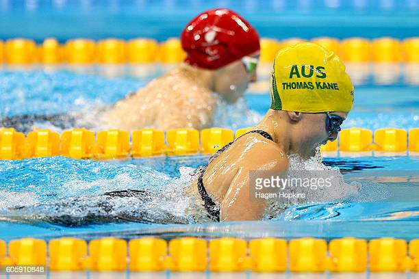 Tiffany Thomas Kane of Australia competes at the Women's 100m Breaststroke SB6 Final during day 8 of the Rio 2016 Paralympic Games at the Olympic...