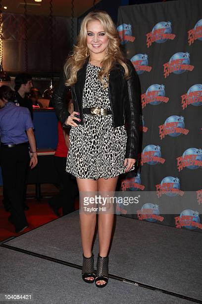 """Tiffany Thornton promotes her role on the Disney Channel's """"Sonny With A Chance"""" at Planet Hollywood Times Square on September 13, 2010 in New York..."""