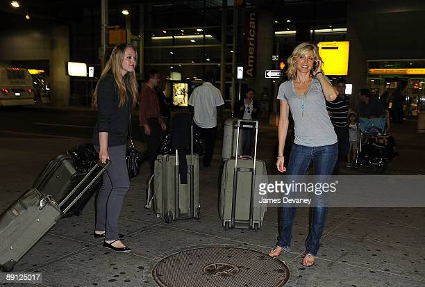Tiffany Trump and her mother Marla Maples seen leaving JFK Airport on July 21 2009 in New York City