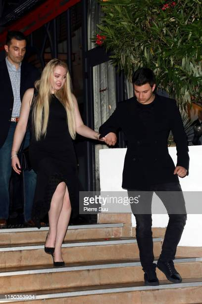 Tiffany Trump and Michael Boulos are seen at Le Majestic Hotel during the 72nd annual Cannes Film Festival at on May 19 2019 in Cannes France