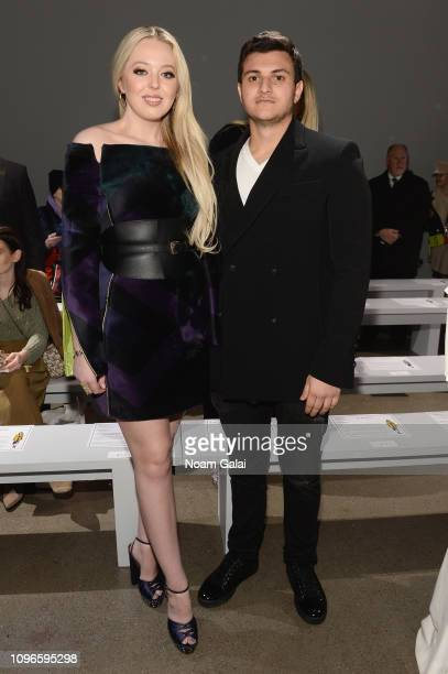 Tiffany Trump and Michael Boulos attend the Taoray Wang front row during New York Fashion Week The Shows at Gallery II at Spring Studios on February...