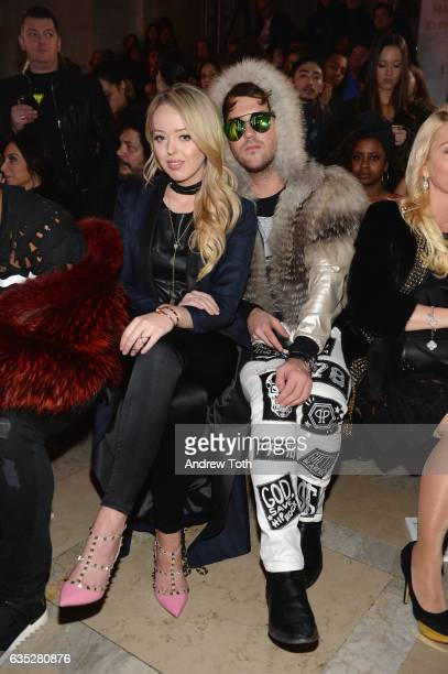 TIffany Trump and Ross Mechanic attend the Front Row for the Philipp Plein Fall/Winter 2017/2018 Women's And Men's Fashion Show at The New York...