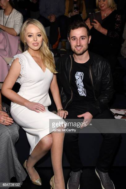 Tiffany Trump and Ross Mechanic attend the Taoray Wang collection during New York Fashion Week The Shows at Gallery 1 Skylight Clarkson Sq on...