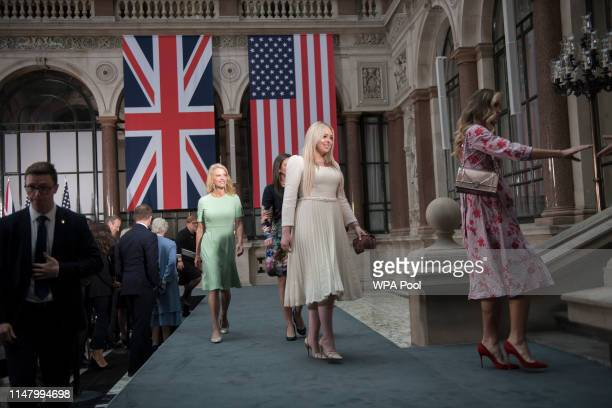 Tiffany Trump attends a joint press conference between US President Donald Trump and Prime Minister Theresa May at the Foreign Commonwealth Office...