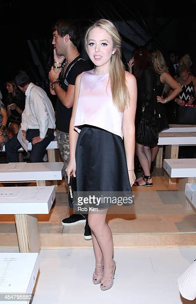 Tiffany Trump attends Mara Hoffman during MercedesBenz Fashion Week Spring 2015 at The Salon at Lincoln Center on September 6 2014 in New York City