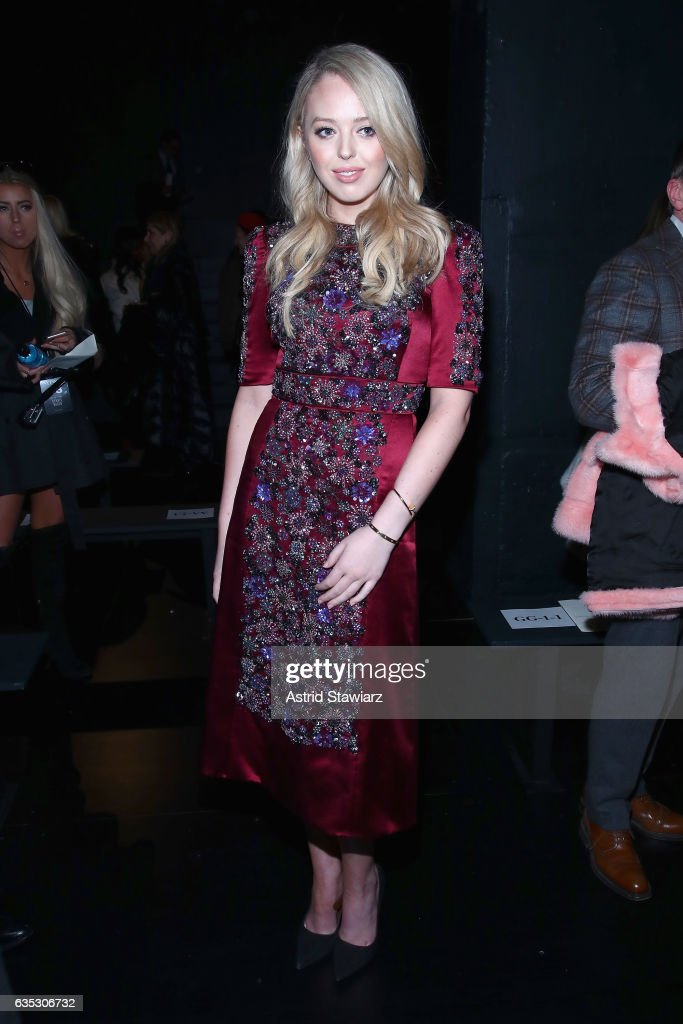 Tiffany Trump attends the Dennis Basso collection during, New York Fashion Week: The Shows at Gallery 1, Skylight Clarkson Sq on February 14, 2017 in New York City.