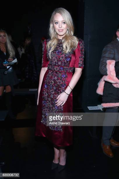 Tiffany Trump attends the Dennis Basso collection during New York Fashion Week The Shows at Gallery 1 Skylight Clarkson Sq on February 14 2017 in New...