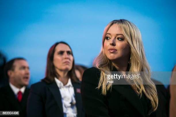 Tiffany Trump daughter of US President Donald Trump attends the 95th annual national Christmas tree lighting ceremony held by the National Park...
