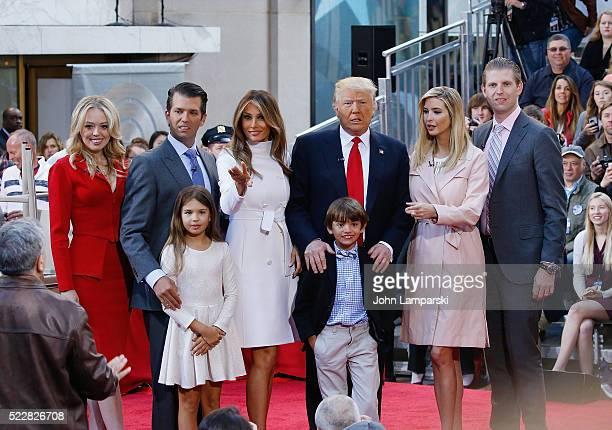 Tiffany Trump Donald Jr Trump Melania Trump Presidential Candidate Donald Trump Ivanka Trump Eric Trump Kai Madison Trump and Donald Trump lll attend...