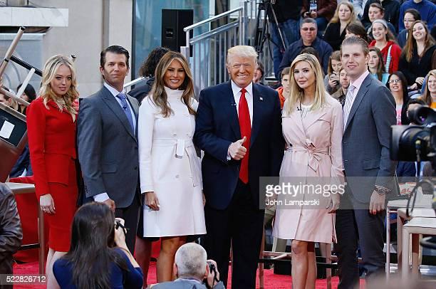 Tiffany Trump Donald Jr Trump Melania Trump Presidential Candidate Donald Trump Ivanka Trump and Eric Trump attend NBC's 'Today' Trump Town Hall at...