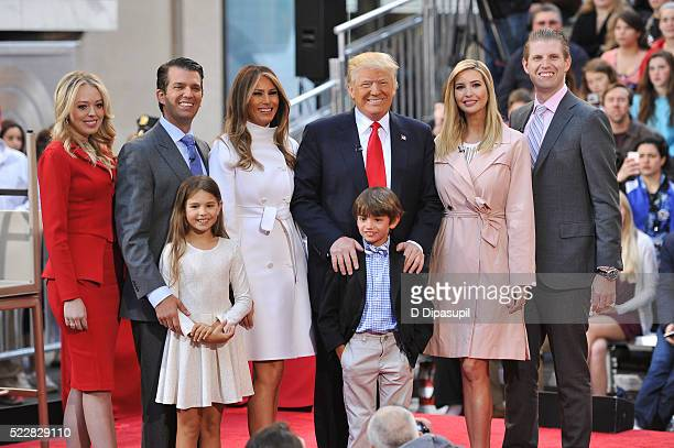 Tiffany Trump Donald Trump Jr Kai Trump Melania Trump 2016 Republican presidential candidate Donald Trump Tristan Trump Ivanka Trump and Eric Trump...