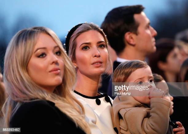 Tiffany Trump Ivanka Trump and Theodore Trump attend the 95th Annual National Christmas Tree Lighting Ceremony in President's Park on November 30...