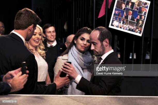 Tiffany Trump Jared Kushner Hope Hicks and Stephen Miller attend the final campaign rally for Donald Trump final rally of the 2016 Trump presidential...