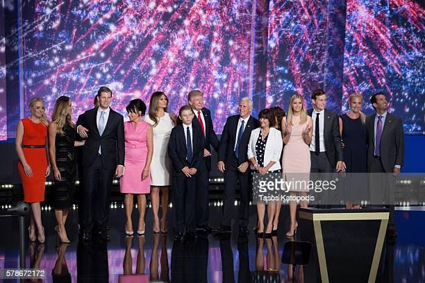 Tiffany Trump, Lara Yunaska Trump, Eric Trump, Guest, Melania Trump, Barron Trump, Donald Trump, Karen Pence, Ivanka Trump, Jared Kushner, Vanessa...